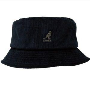 Black Corduroy Kangol Bucket Hat
